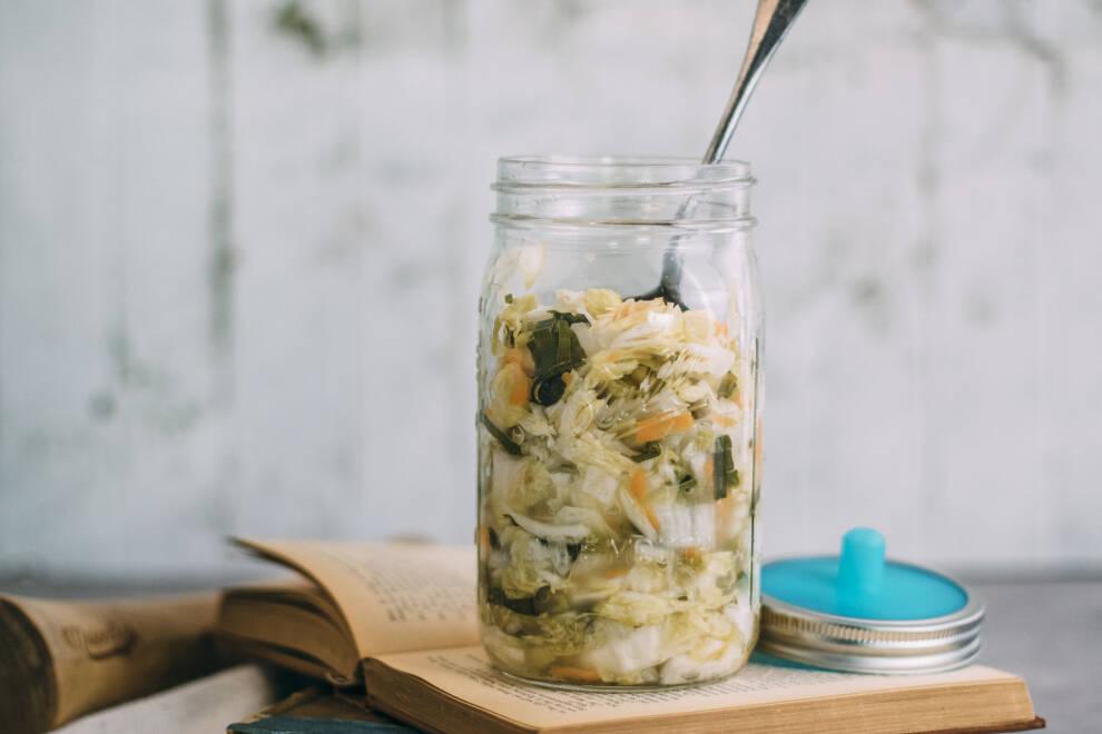Anleitung fermentieren: Kimchi im Glas