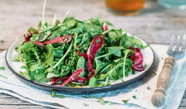 Gemischter Salat ist ein toller Eiselieferant.