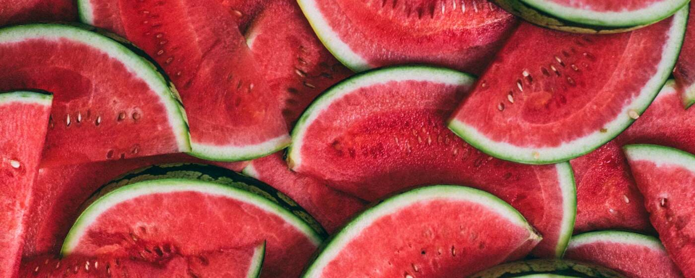 saftige aufgeschnittene Wassermelone