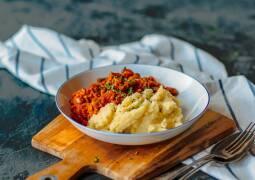 Veganes Rezept: Bohnen mit Räuchertofu und Kartoffelstampf 1
